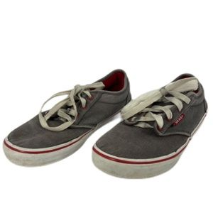 Vans Classic Sneakers Youth Size 4.5 Grey Red Shoe